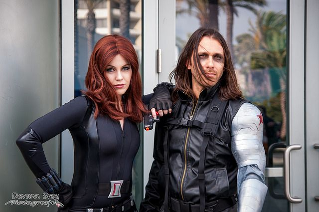 Black Widow and Winter Soldier cosplay - WonderCon 2014   Flickr    Winter Soldier Cosplay Wondercon 2014