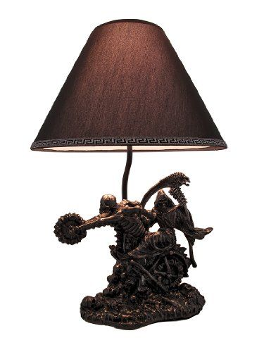 `Death Rides A Chopper` Grim Reaper Skeleton Motorcycle Table Lamp Http://