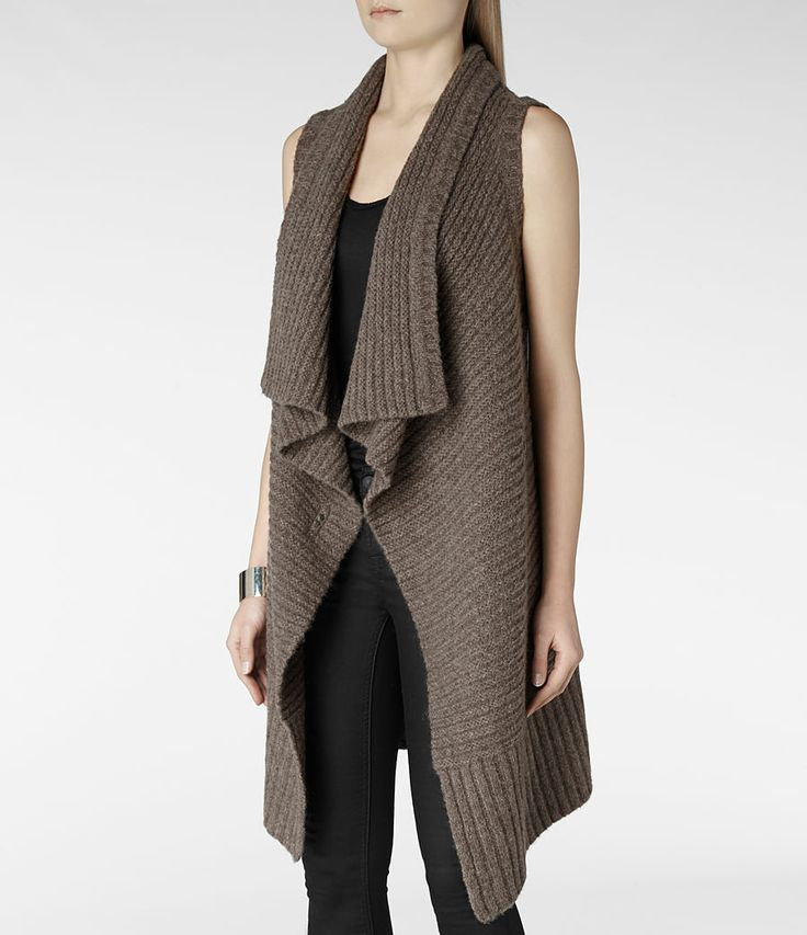 Sleeveless Force Cardigan (Fawn): Love it