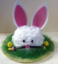 Handmade Bunny Rabbit Easter Bonnet Hat