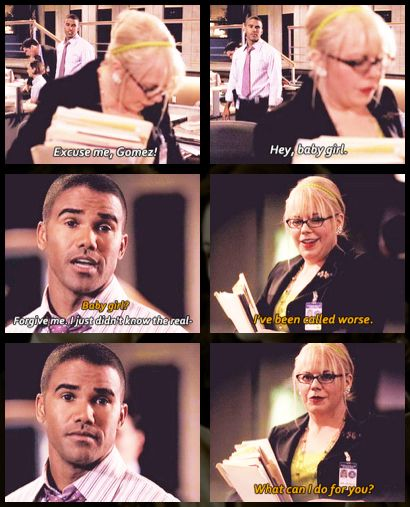 "Criminal Minds - Morgan & Garcia love at first ""Baby Girl"" <3"