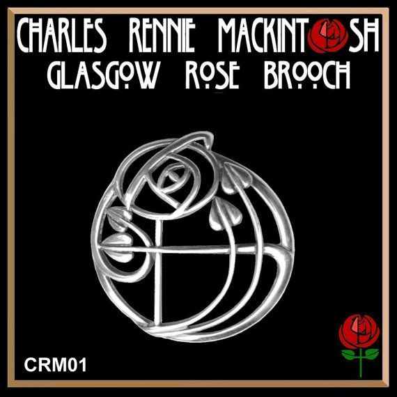 Charles Rennie MacKintosh Glasgow Rose Brooch by celticstudio, $64.98