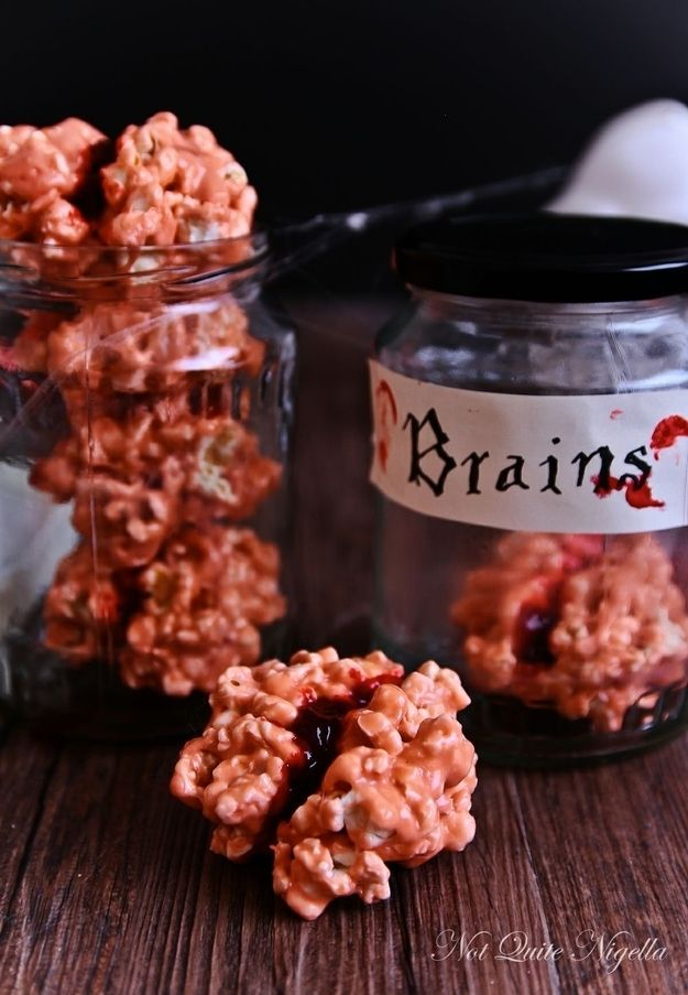 bloody popcorn brains community post 28 creepy treats perfect for halloween - Fast And Easy Halloween Treats