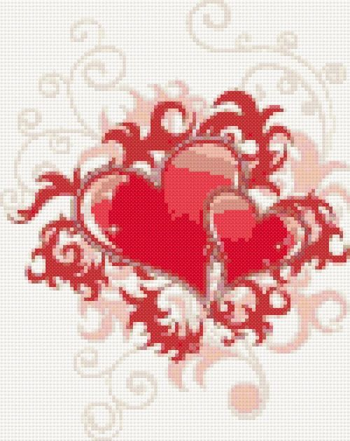 Valentine free cross stitch pattern | Yiotas XStitch