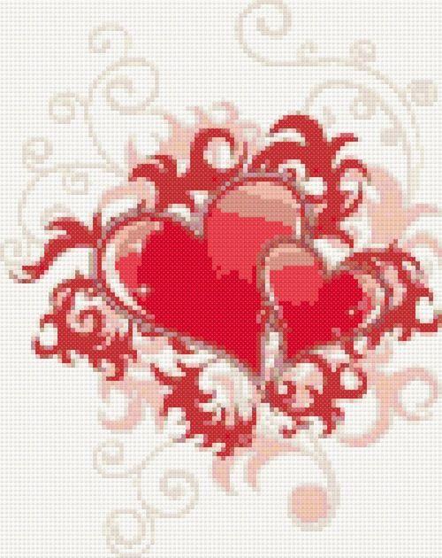 Valentine free cross stitch pattern   Yiotas XStitch