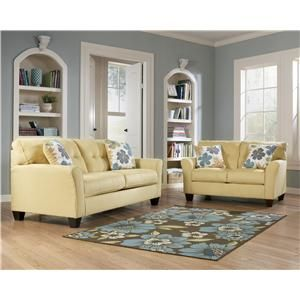 Signature Design By Ashley Furniture Kylee   Goldenrod 2 Piece Sofa And  Loveseat Set   66401 2Pc | Home Decor | Pinterest | Living Rooms, Room And  House