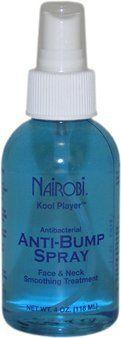 Kool Player Anti-Bump Spray 4 oz. by Nairobi. Save 22 Off!. $10.90. Spray. Nairobi Koolplayer Anti Bump Spray protects the skin; preventing shaving bumps, ingrown hair, breakouts and irritation.