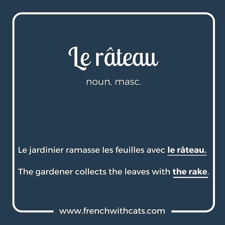 #Learnfrench in a fun way with our #French #WordOfTheDay. Today's word=le râteau=the rake
