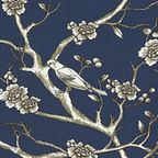 Printed Organic Cotton Upholstery Fabric - Mediterranean - Upholstery Fabric - by Élimé Home