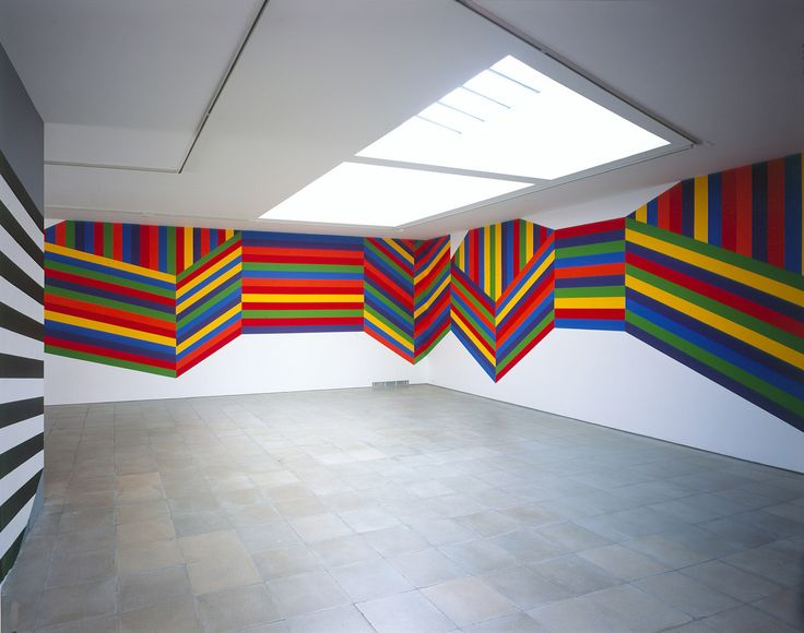 Wall Drawing #1138: Forms composed of bands of color | Sol LeWitt | Artists | Lisson Gallery
