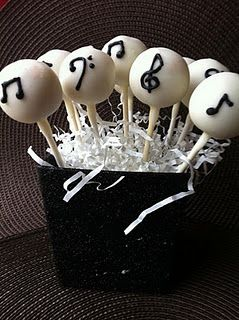 musical cake pops - Jazz Party - Music Themed Party - Smooth Jazz - Feng Shui Your Jazz Party or Sunday Brunch with a Professional Feng Shui Design Consultation at www.DeniseDivineD.com/feng-shui-design - Professional Feng Shui Consultant & Interior Designer