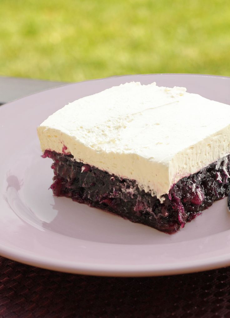 Blueberry Jell-O Salad -- A great way to use up those fresh blueberries from the farmers market!