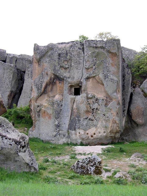 """In Eskisehir city of Turkey…this place called as ""Aslantas"" means Lion Stone…belongs to Phrygian civilization…its nearly 3000 years old monument…"""