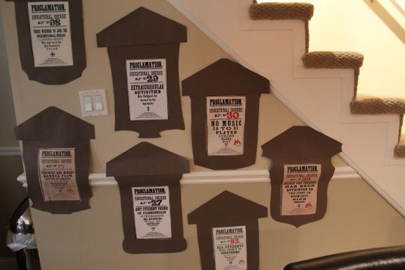 Hogwarts! Harry Potter party decoration ideas- for college parties maybe re type the rules relating to drinking