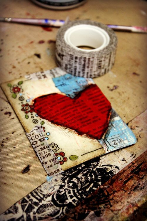 I just like the heart that is made from a book page. Would make a pretty card or even wall art.  Homegrown Hospitality blog