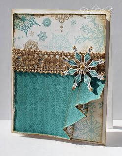 With a Stamp and a Song: Drape-fold card front