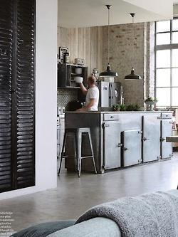 kitchen island - reuse vintage fridge or ice box doors as cabinets