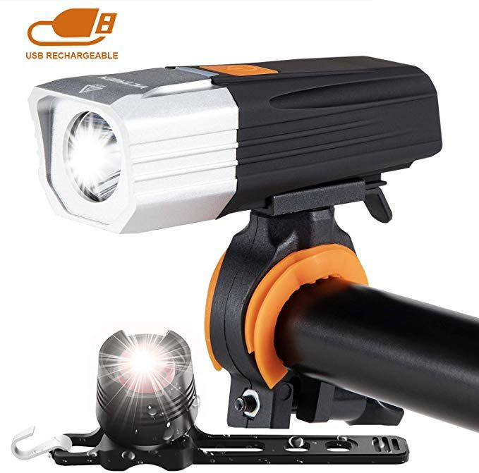 Victagen Usb Rechargeable Bike Light Free Taillight Powerful 1000 Lumens Bike Front And Rear Light Waterproof Flashlight Bicycle Headlight Easy To Install Fi Bike Lights Bicycle Headlight Usb Rechargeable
