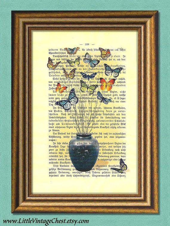 BUTTERFLIES BOUQUET  Dictionary Art Print  by littlevintagechest, $7.99