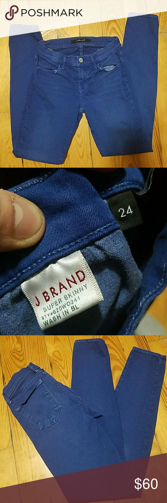 "J Brand super skinny woman's denim. Inseam 29""  Overall gently worn. No Frey at pant leg bottoms. J Brand Jeans Skinny"