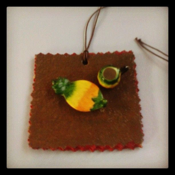 A cup of tea please..  #necklace #artepovera #cork #handmade #alternative #brown #red #art #unique #jewels