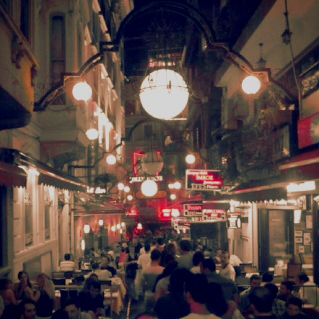 ISTİKLAL STREET in taksim is known for  great restaurants, shopping, and clubs & bars. no matter what night of the week, the party never stops. taksim, istanbul turkey.