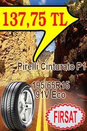 Pirelli Oto Performans Lastik 195/65R15 91V Eco Cinturato P1  Performans ve güvenlikten ödün vermeden daha uzun kullanım ömrü.