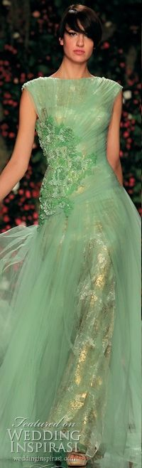 .Gold and Green Gown