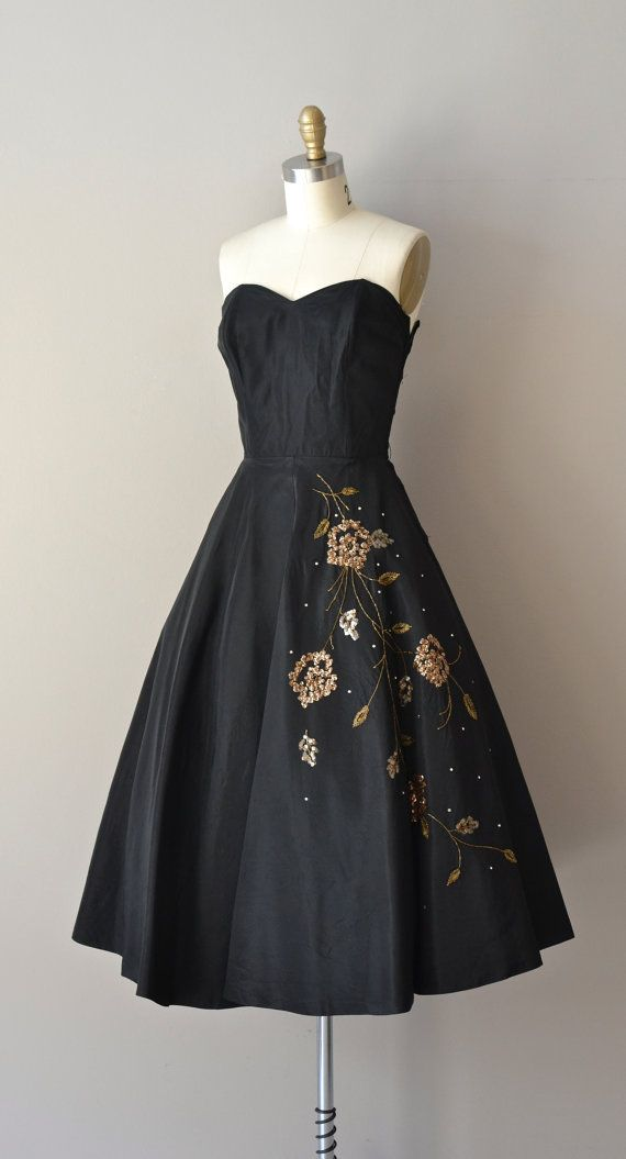 Lyric Year dress / vintage 50s dress / strapless by DearGolden, $224.00