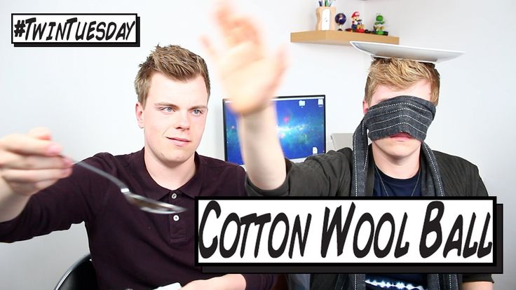British Twins NikinSammy do the Cotton Wool Ball challenge on @YouTube because they like challenge videos. HAVE FUN!  http://youtube.com/nikinsammy http://twitter.com/nikinsammy http://facebook.com/nikinsammy