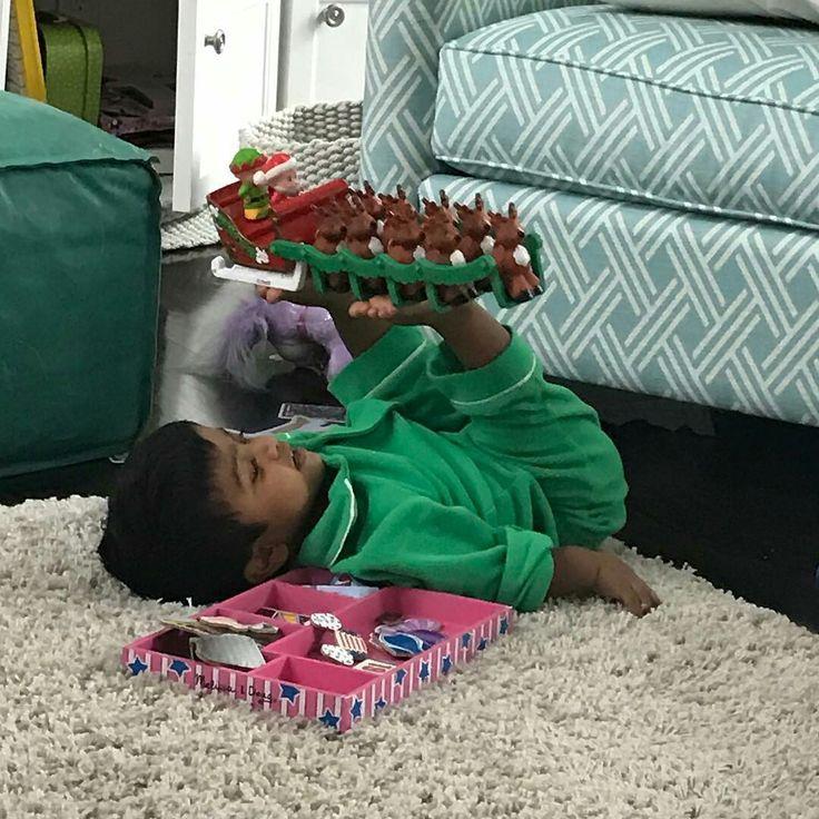 Zoey making Santa's Sleigh FLY ☃