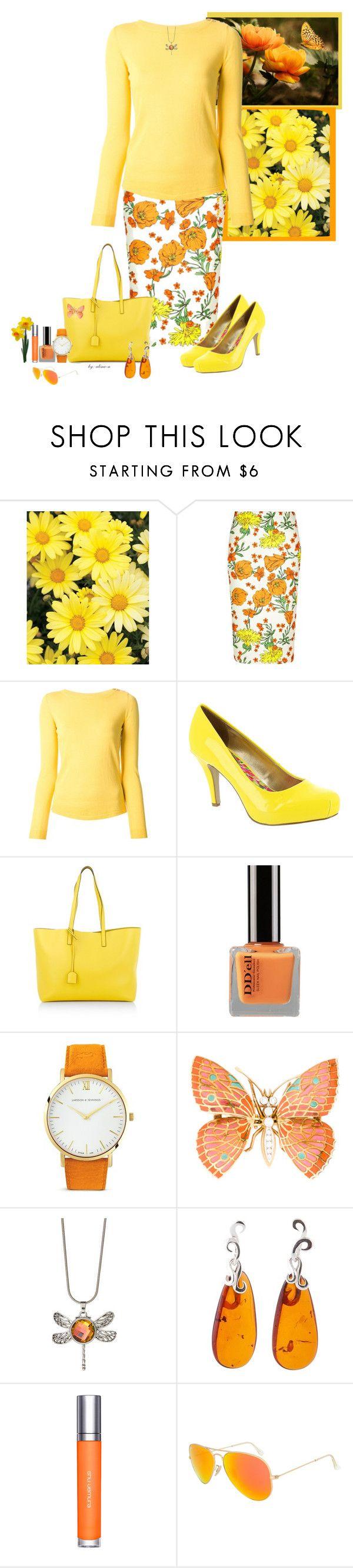 Takashi murakami sun flowers and contemporary art uniqlog -  Yellow Orange By Alina N Liked On Polyvore Featuring Zanone