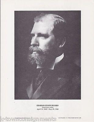 Charles Evans Hughes American Jurist Vintage Portrait Gallery Poster Photo Print