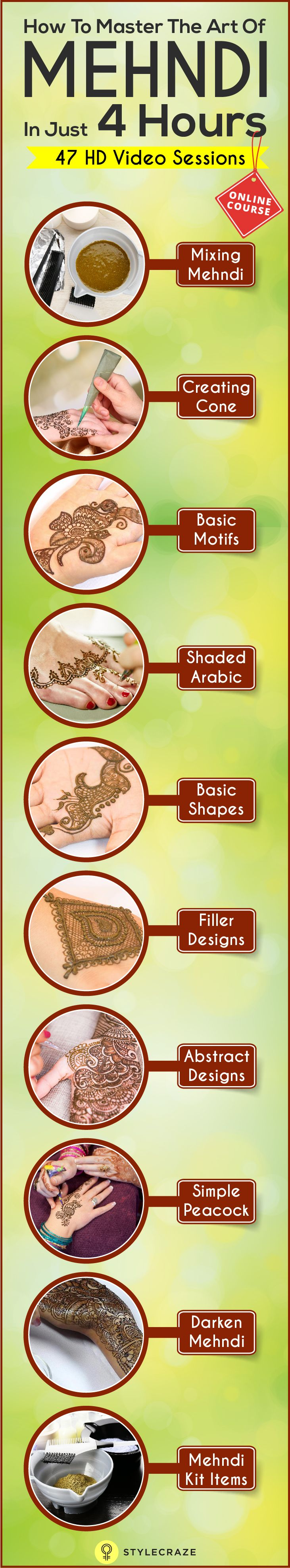 50 intricate henna tattoo designs art and design 50 - Our Mehndi Course Will Definitely Be Of Interest To
