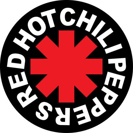 Red hot chili peppers band round bumper sticker american rock punk music 4 5 x 4 5