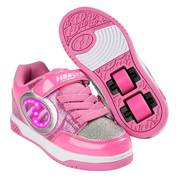 8a473cf85ae2 Superb Heelys X2 Plus Lighted Pink Silver UK 11 Now At Smyths Toys ...