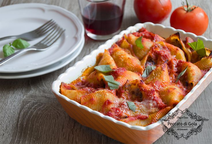 ricetta conchiglioni alla parmigiana, peccato di gola