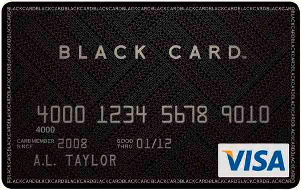 Visa Black Credit Card
