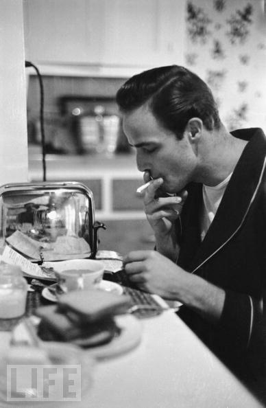 Marlon Brando - coffee toast smoke