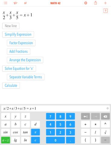 Math 42 – A Calculator and Math Tutorial In One App
