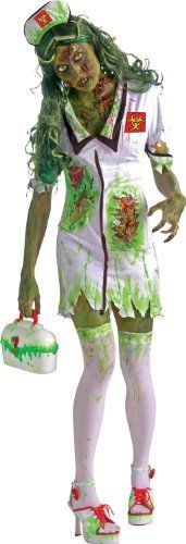 Biohazard Zombie Nurse Adult Costume (White/Green) Size One-Size (Standard)  #Adult #AdultCostume #Biohazard #Costume #Nurse #OneSize #Size #Standard #White/Green #Zombie Halloween Spirit