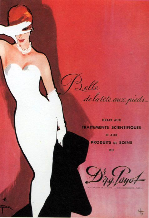 French vintage advert with illustration by Gruau