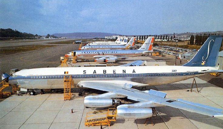 Sabena Boeing 707 in 1971