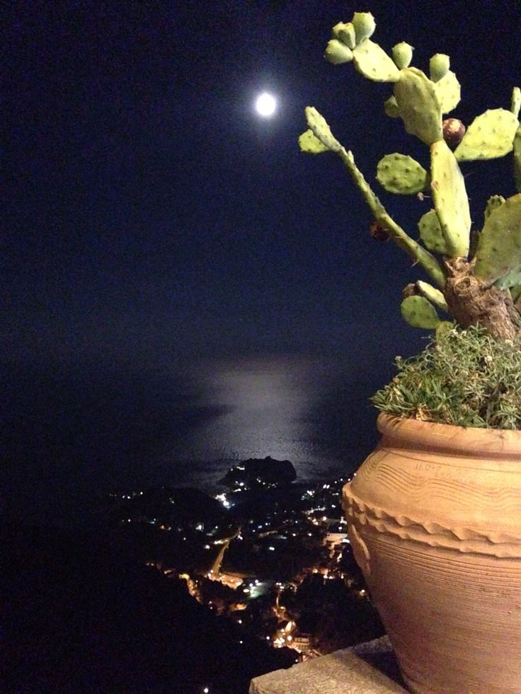 Taormina (Sicily) in moonlight