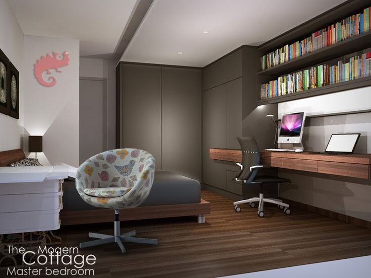 singapore modern wardrobe with study table design - Google Search