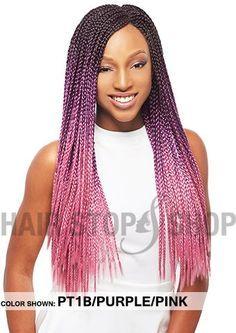 Janet Collection Noir 3S Havana Box Braid 24 $9.50 Dark green/lavender/purple…