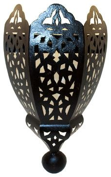 Moroccan Rustic Iron Wall Sconce mediterranean-wall-sconces