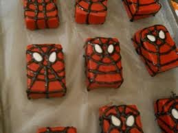 Spiderman rice crispie treats