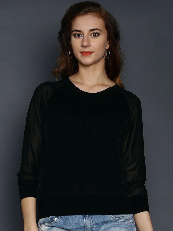 Replay-Women-Black-Linen-Sweater
