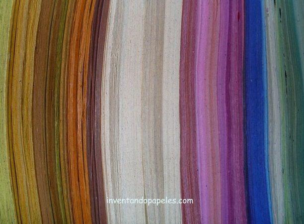 variedad de colores en papel reciclado